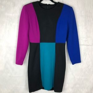 Vintage All That Jazz Colorblock Sheath Dress